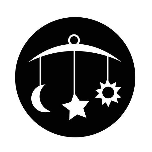 Baby hängen Symbol vektor
