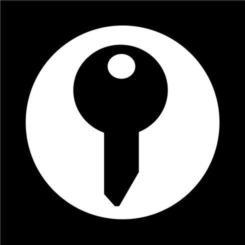 Schlüsselsymbol vektor