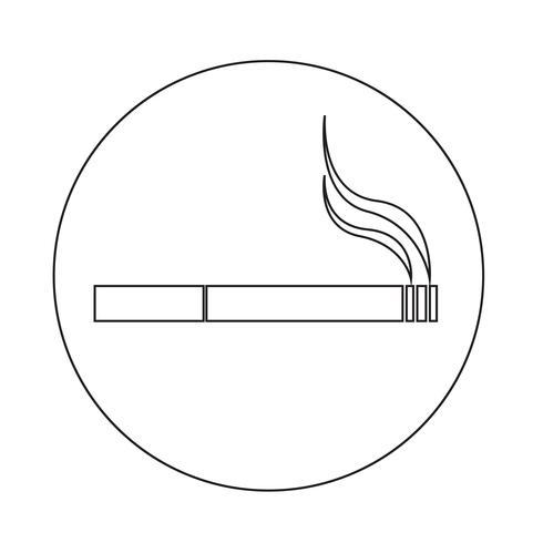 Zigaretten-Symbol vektor