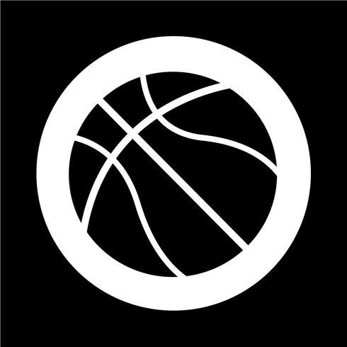 Basketball-Symbol vektor