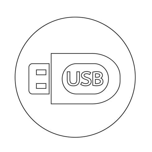 USB-Symbol vektor