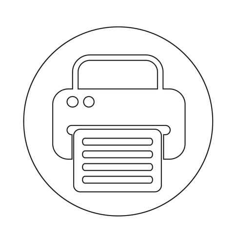 Fax-Web-Symbol vektor
