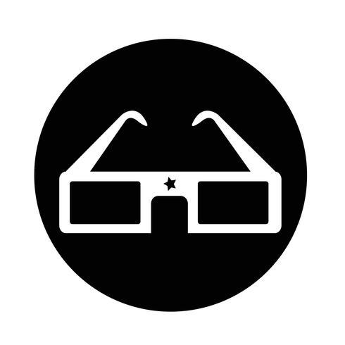 3D-Kinobrille vektor