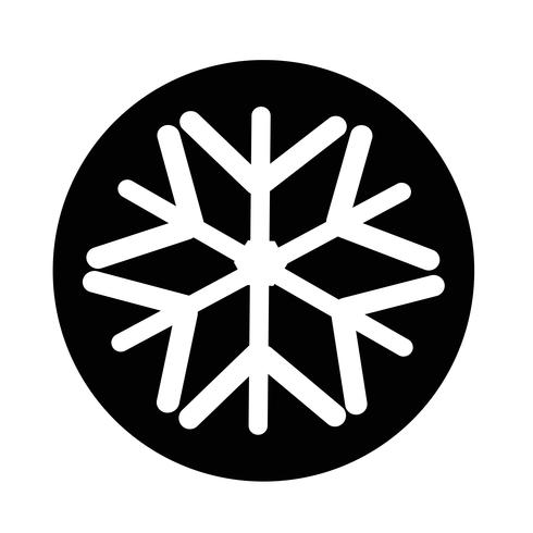 Schneeflocke-Symbol vektor