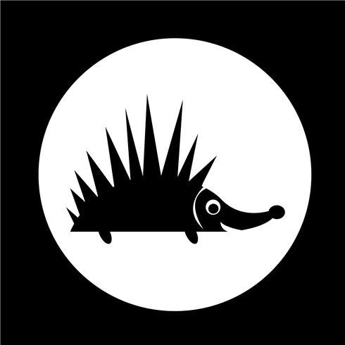 Igel-Symbol vektor