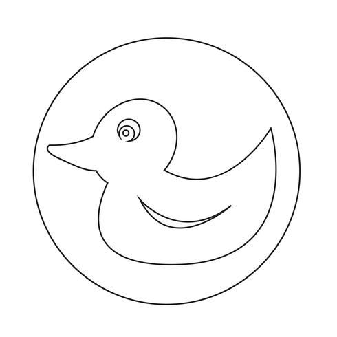Ente-Symbol vektor