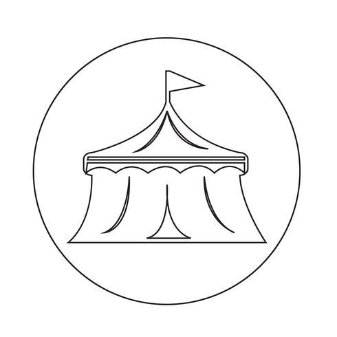 Zirkus-Symbol vektor