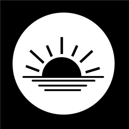 Sonnenaufgang Sonnenuntergang Symbol vektor