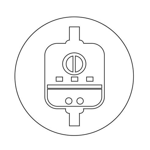 Varmvattenberedare ikon vektor