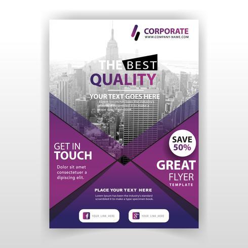 företags kommersiell broschyr vektor