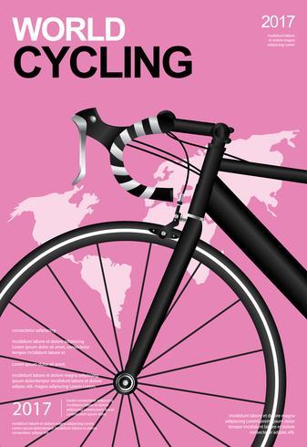 Radfahrenplakat-Vektor-Illustration vektor