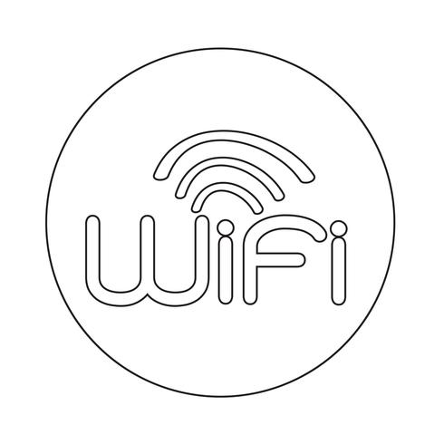 Zeichen der Wifi-Symbol vektor