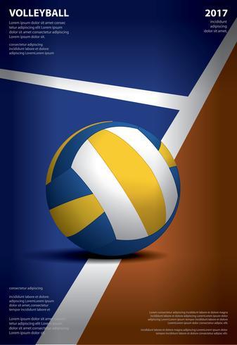 Volleybollsturneringaffischmallar Design Vektorillustration vektor