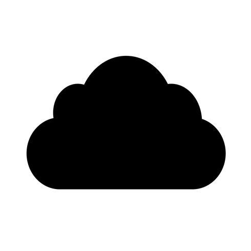 Sign of Cloud-ikonen vektor
