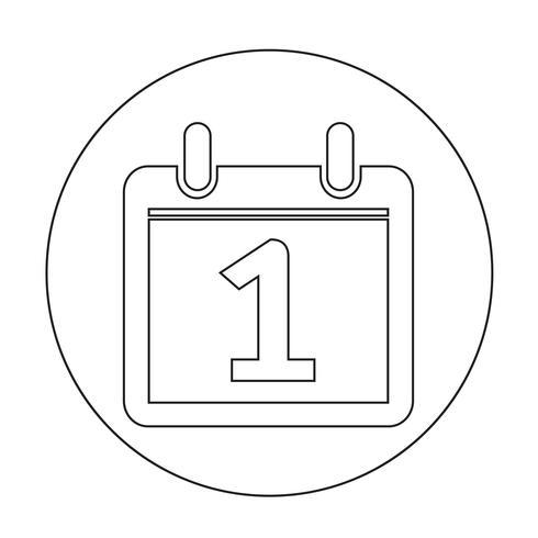 Logga på kalenderikonen vektor