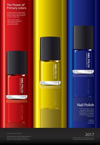 Nail polish affisch design mall vektor illustration
