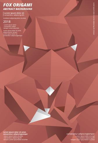 Räv Origami Abstrakt Bakgrund Vektor Illustration