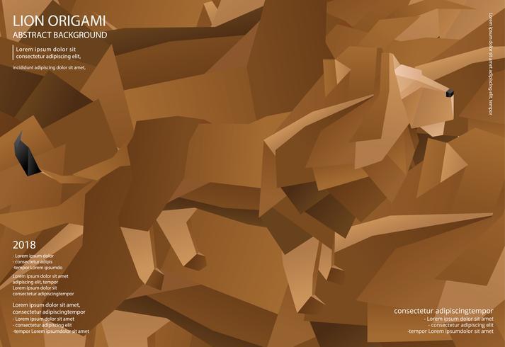 Löwe Origami abstrakte Hintergrund Vektor-Illustration vektor