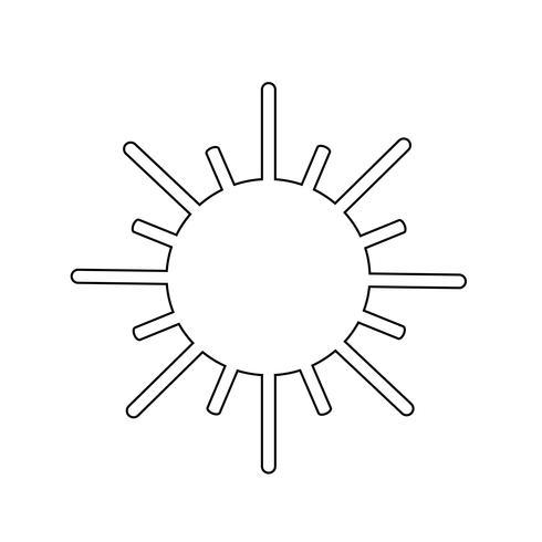 Zeichen der Sonne-Symbol vektor