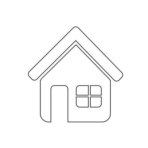 Zeichen der Haussymbol vektor