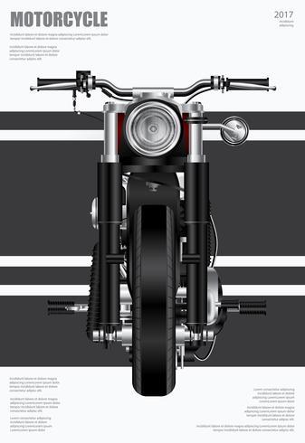 Plakat-Zerhacker-Motorrad lokalisierte Vektor-Illustration vektor