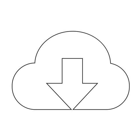 Zeichen der Cloud-Symbol vektor