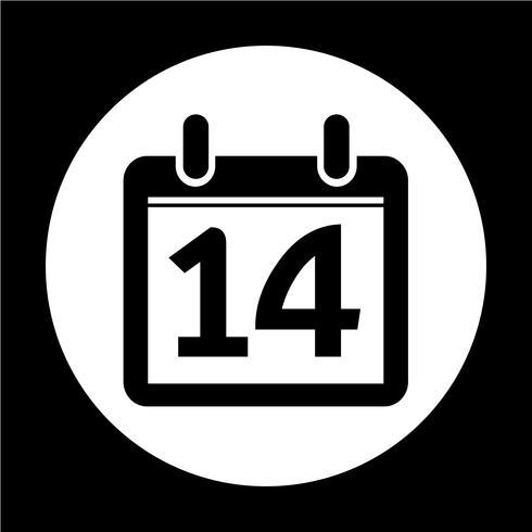 Zeichen des Kalendersymbols vektor