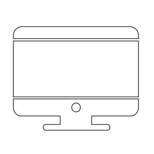 Skrivbordsdatorikon vektor