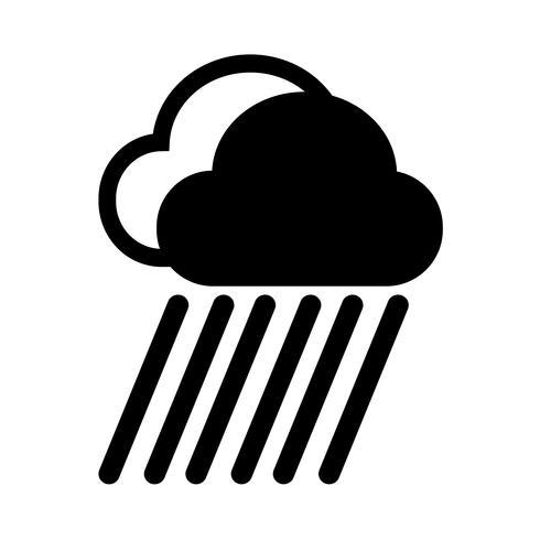 Wolkenregen-Symbol vektor