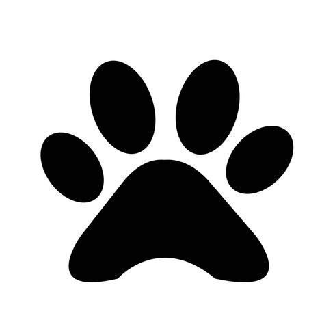 djurpaw print icon vektor