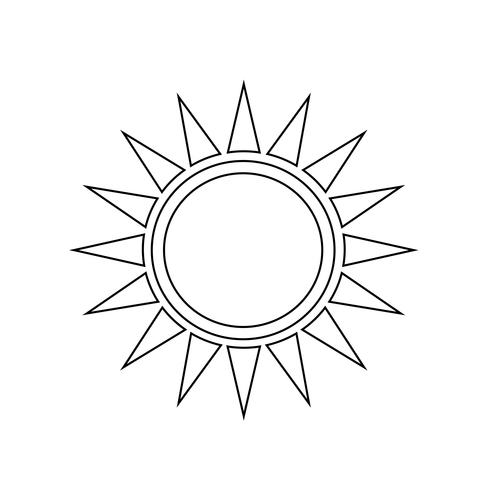 Sun iconSign of vektor