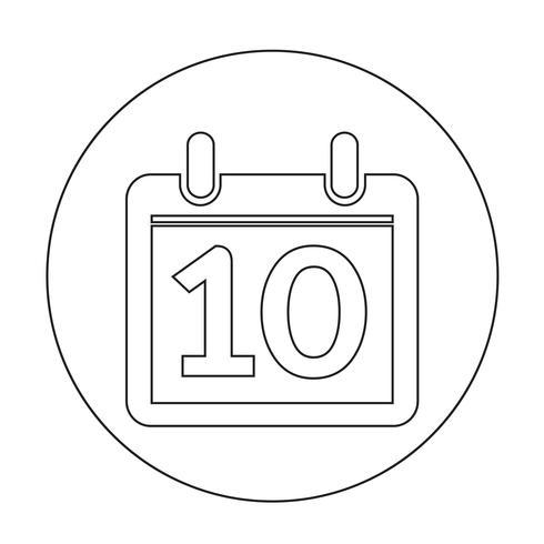 Zeichen des Kalender-Symbols vektor