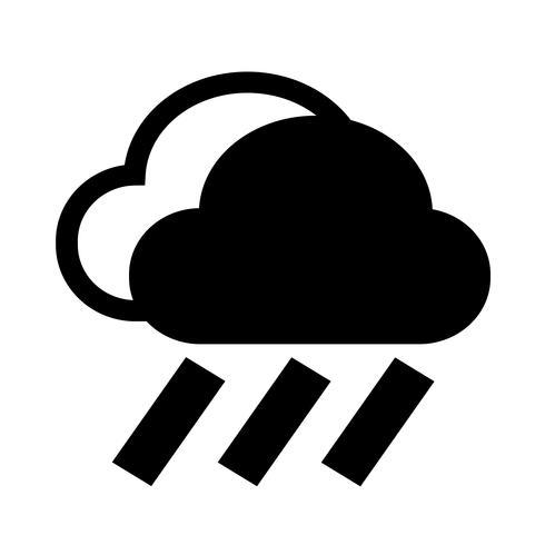 Cloud rain ikon vektor
