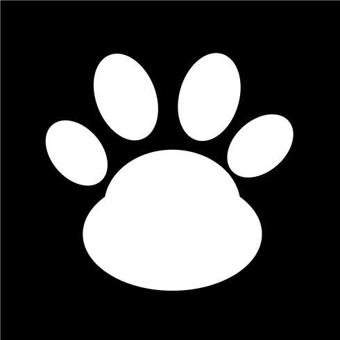 Tier Pfotenabdruck Symbol vektor