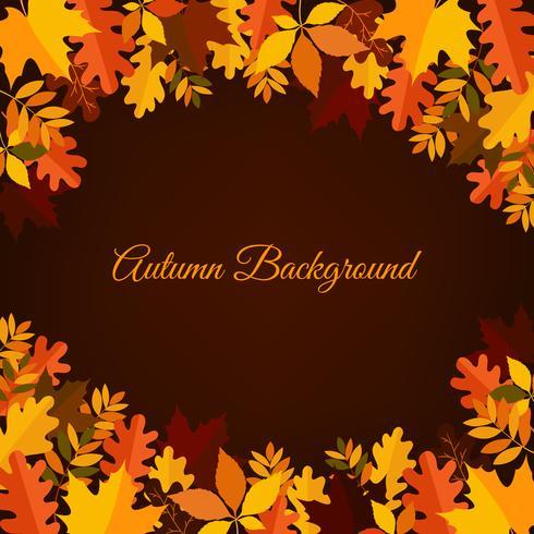 Herbst Hintergrund mit Blättern vektor