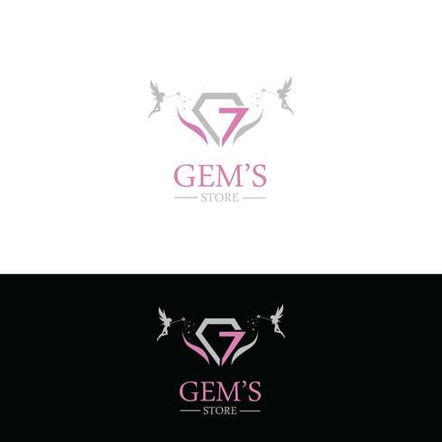 Schmuck-Logo-Design vektor