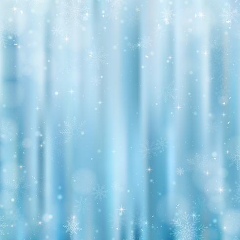 Abstrakter Weihnachtshintergrund mit Schneeflocken. Blauer eleganter Winterhintergrund vektor