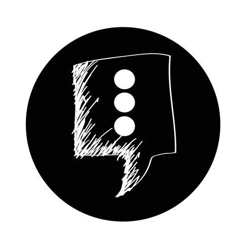 Sprechblasen-Symbol vektor