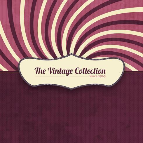 Vintage Hintergrund mit Etikett vektor