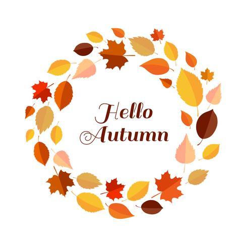 Hallo Herbstlaubrahmen vektor