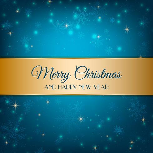 Blå julbakgrund vektor