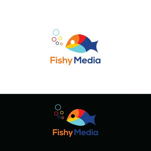 Fisklogo design vektor