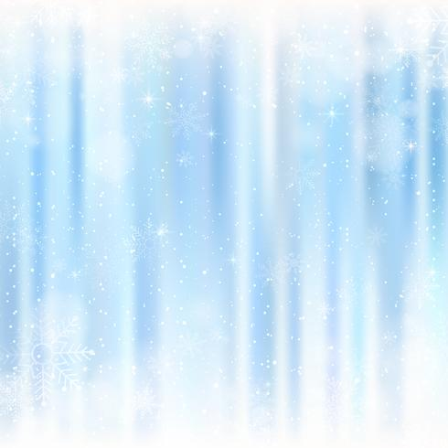 Abstrakt julbakgrund med snöflingor. Blå Elegant Vinterbakgrund vektor