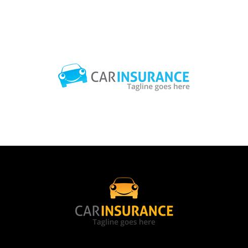 Bilförsäkring logotyp design vektor