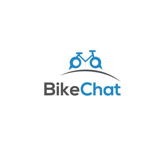 Cykel logotyp mall vektor