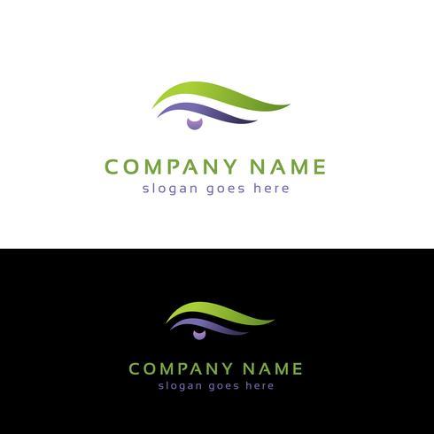 Eye logo design. Abstrakt ögonlogotypmall vektor