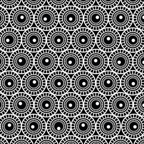 Abstrakter Schwarzweiss-Kreishintergrund vektor