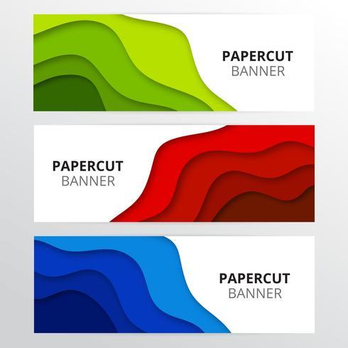 Bunte Papierschnittfahnen vektor