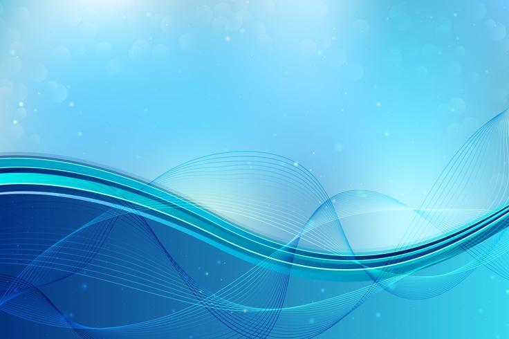 Blauer dynamischer wellenförmiger Hintergrund vektor