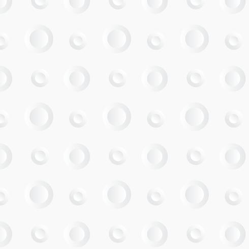 Weißer Kreis Hintergrund. Papierkunststil vektor